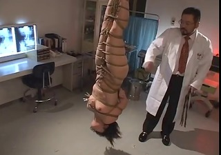 thrashing a japanese nurse-upside down